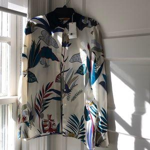 Tory Burch Madison silk blouse Size 8